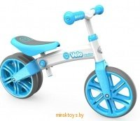 Беговел Yvolution Velo Junior с двойным колесом, голубой YVolution 100197 icon | minsktoys.by